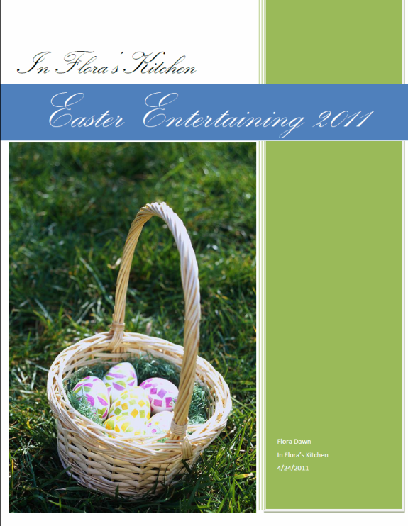 Download my Easter Entertaining 2011 eBook