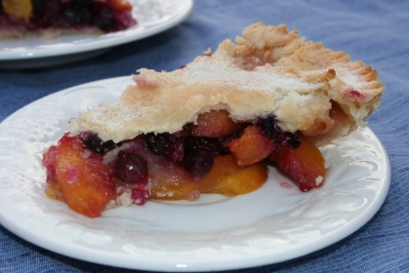 Peach & Blueberry Pie 2