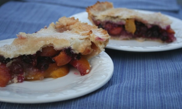 Peach & Blueberry pie 3