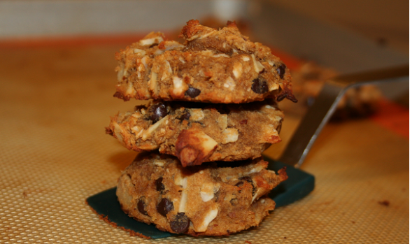 Paleo Banana Chocolate Chip Cookies